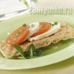 Легкие и вкусные низкокалорийные бутерброды