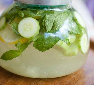 Напиток с лимоном и огурцом для похудения