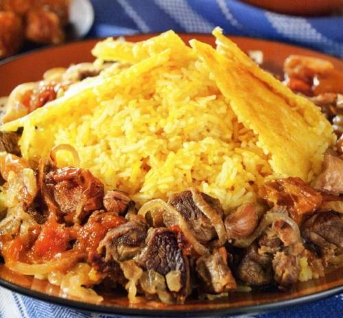 рис с бараниной, фото