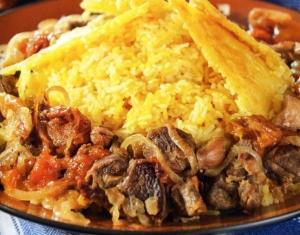Рис в лаваше